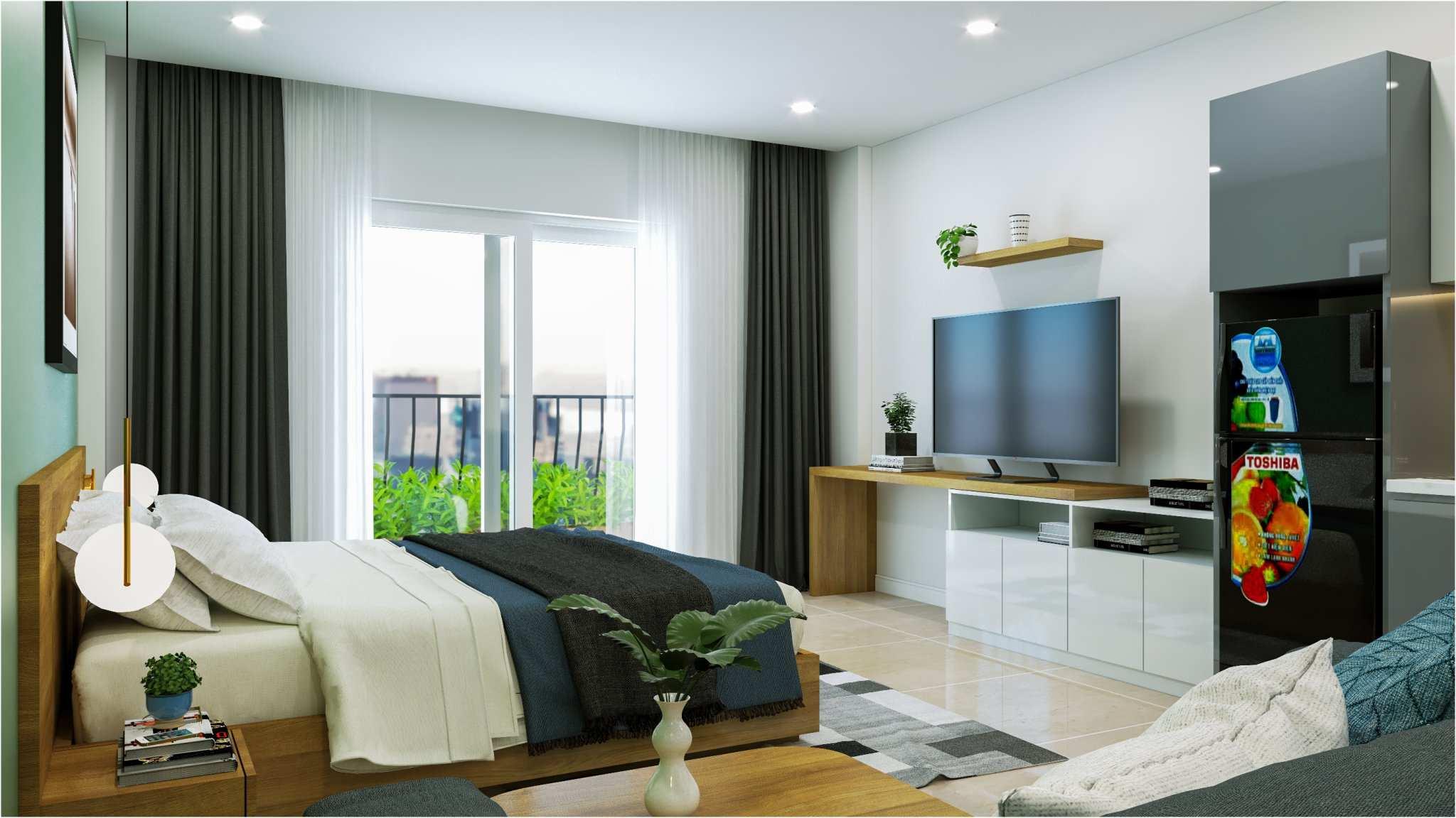 phòng ngủ căn hộ cho thuê 26 căn chánh nghĩa