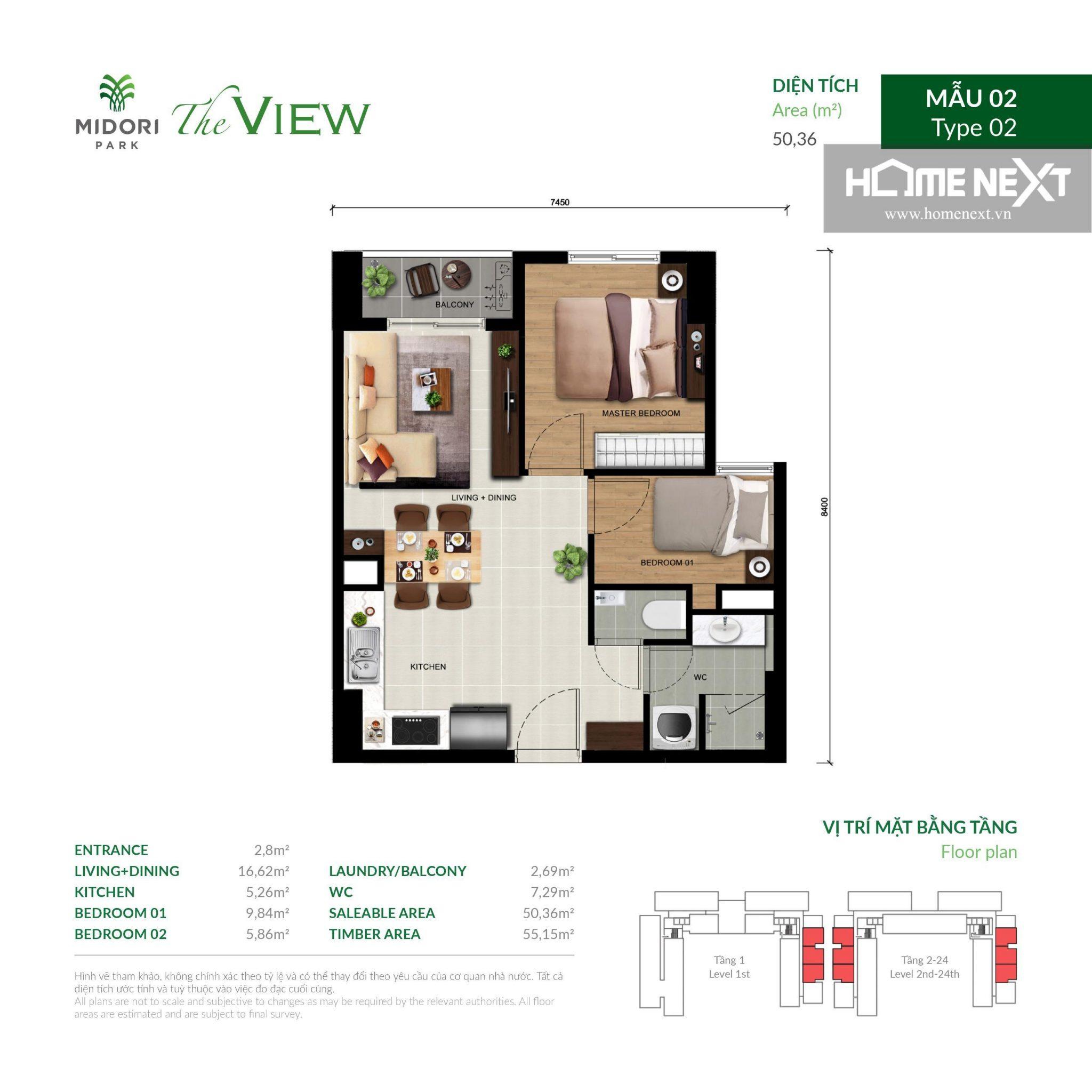 mẫu căn hộ The View