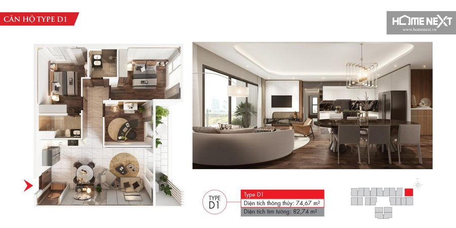 dự án căn hộ astral city 3 phòng ngủ