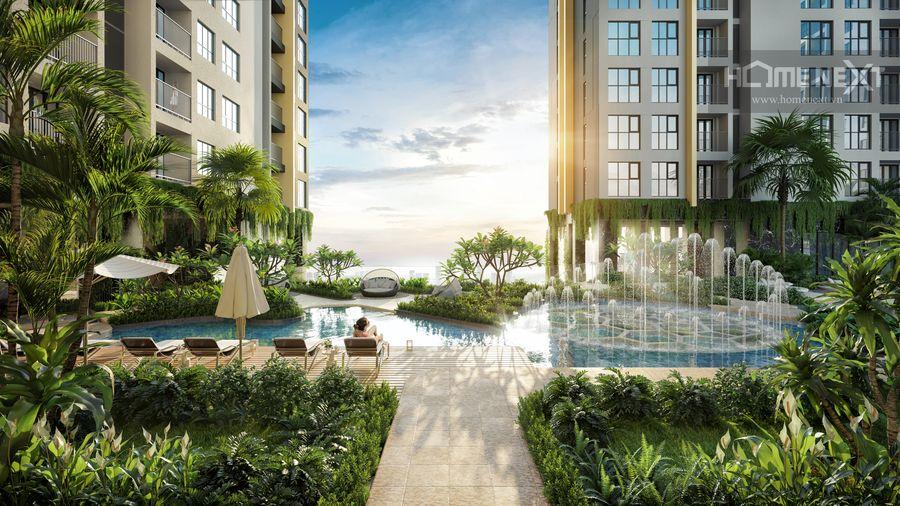Không gian xanh tại Happy One Central theo tiêu chuẩn Singapore