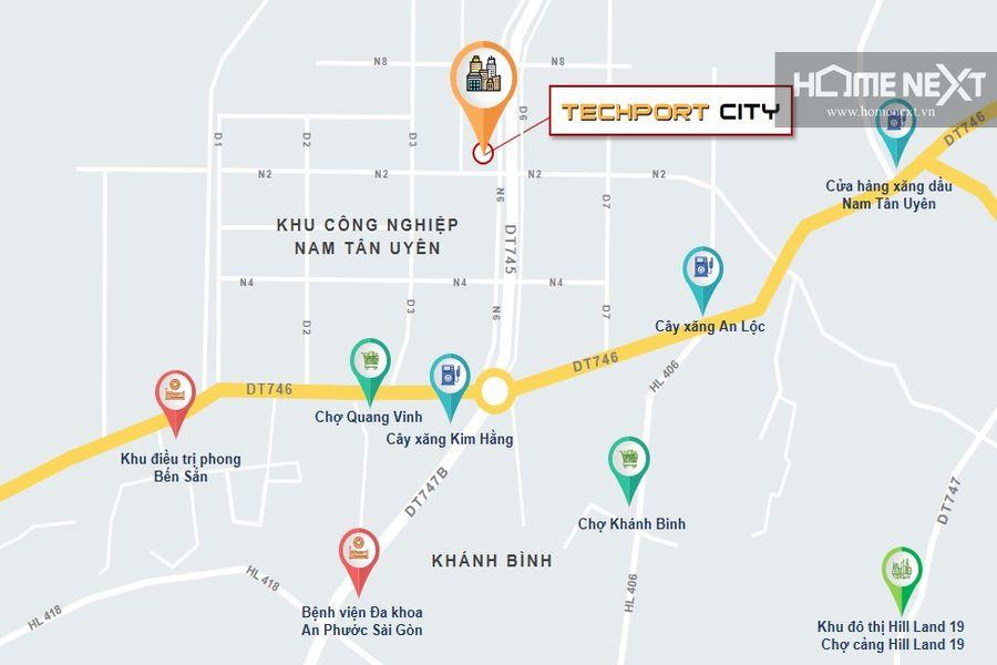 Vị trí thuận lợi của TechPort City